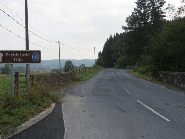 Road (B709) and Bridge in Eskdalemuir