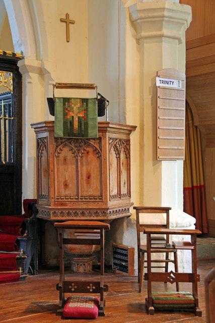 St Mary West Horsley - Pulpit