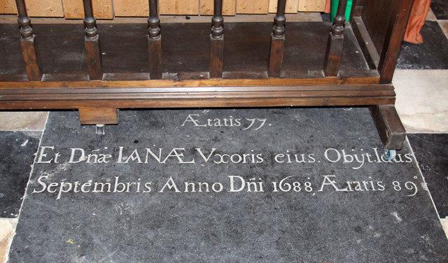 St Mary West Horsley - Ledger slab