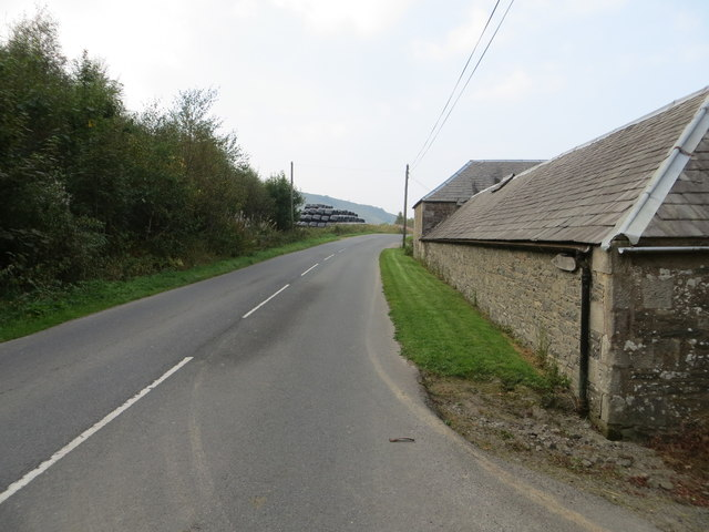 Road (B709) and Barn at Hopsrig