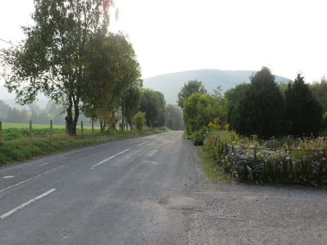 Road (B709) at Camra Cottages