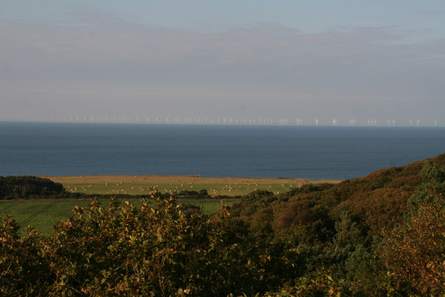 Coast view and an offshore windfarm, from the Gazebo