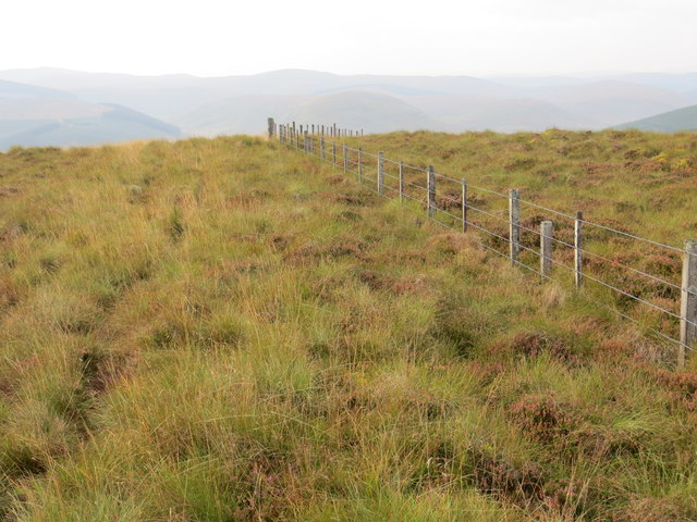 Fence Line Heading South-West from the Summit of Upper Oliver Dod