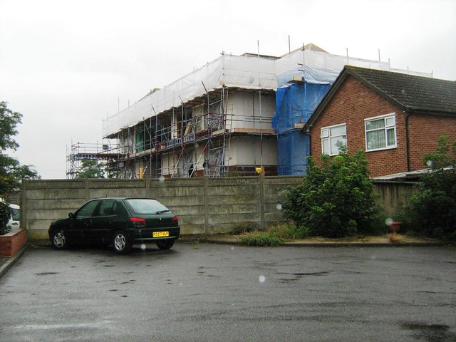 Flats under construction