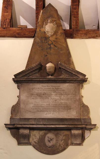 St Thomas of Canterbury, East Clandon - Wall monument