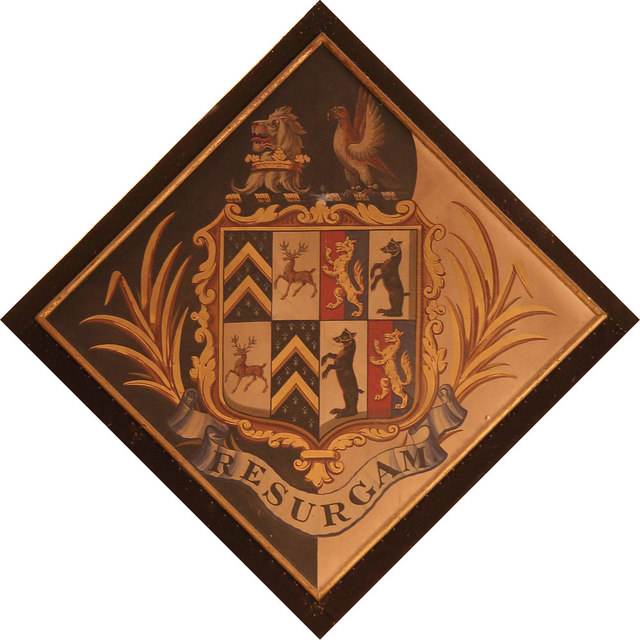 St Thomas of Canterbury, East Clandon - Hatchment