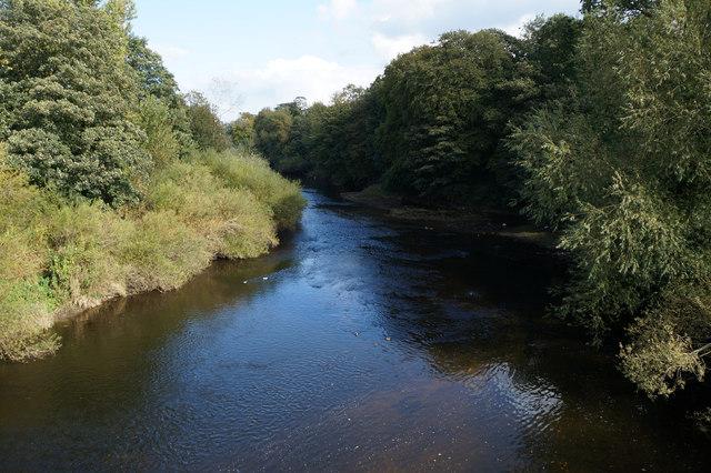 The River Ure from Borough Bridge, Boroughbridge