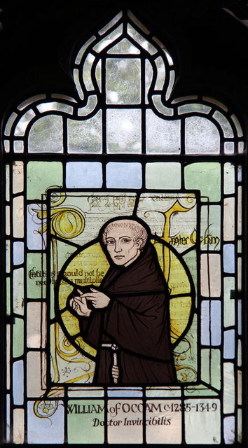 All Saints, Ockham - Stained glass window