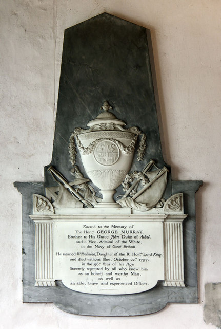 All Saints, Ockham - Wall monument