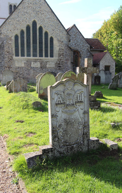 All Saints, Ockham - Gravestone
