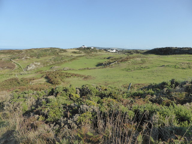 Looking inland from the Coast Path