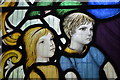 TQ8816 : Detail, Stained glass window, All saints' church, Icklesham : Week 39
