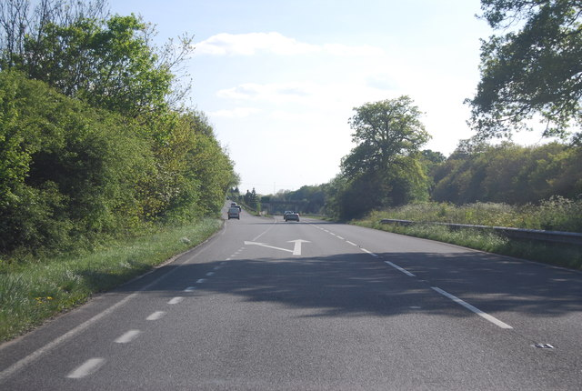 Turning off the A24, Horsham bypass