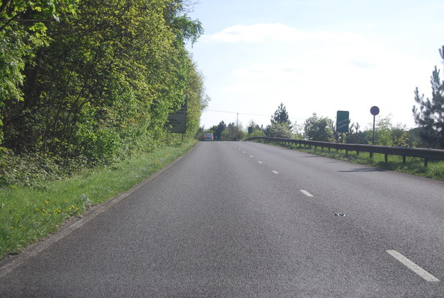Slip road off the A24