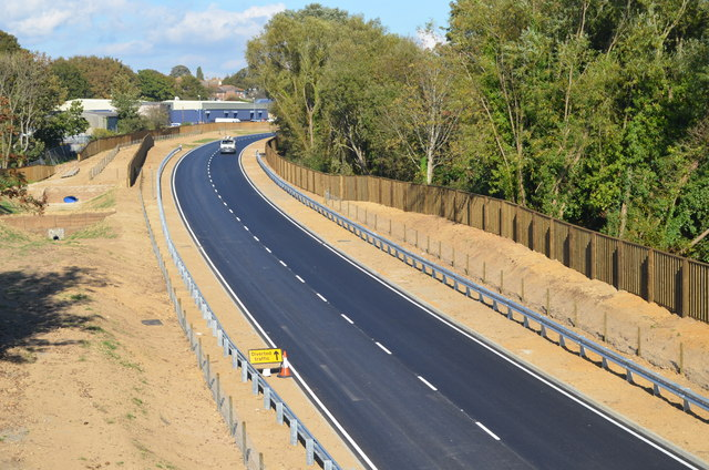 Part of Bexhill to Hastings link road