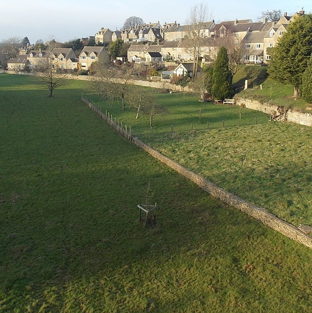 Fields and houses in Tetbury