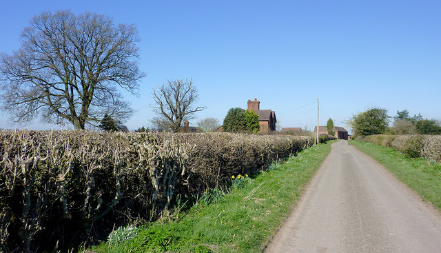 The lane through Catstree north-west of Worfield, Shropshire