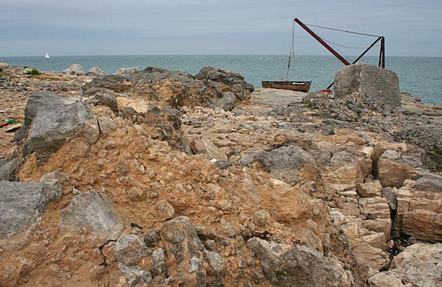 Raised Beach and Old Crane
