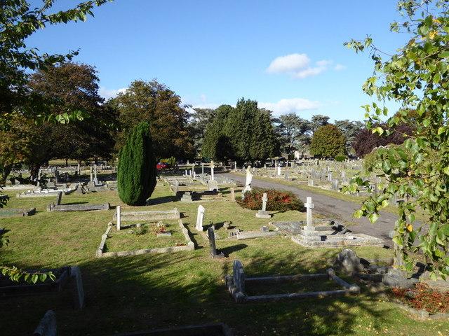 Cemetery by Musgrove Park Hospital
