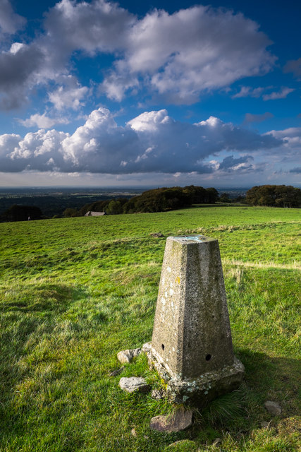 Trig point on the top of Nab Hill