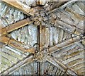 SP3211 : Minster Lovell - Old Hall roof detail by Rob Farrow