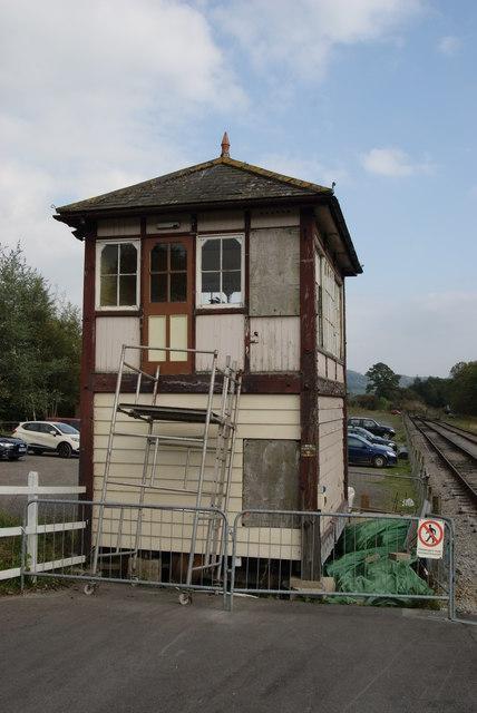 The former Sleights Sidings East signal box