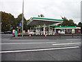 SJ7383 : Bucklow Hill : BP Petrol Station by Lewis Clarke