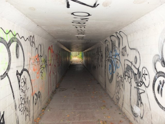 Tiled Subway under M6 Motorway at Orrell