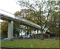 SP0381 : Footbridge over Bristol Road South by Anthony Parkes