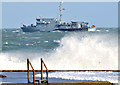 J5082 : German naval ship off Bangor - October 2014(3) by Albert Bridge