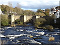 SJ2142 : The bridge at Llangollen across the River Dee by Richard Hoare