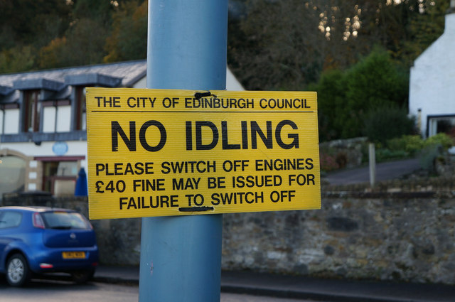 No Idling at South Queensferry