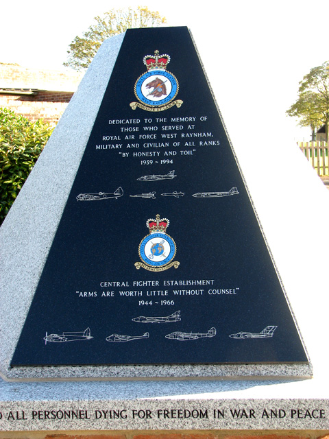 RAF West Raynham memorial (memorial plaque)