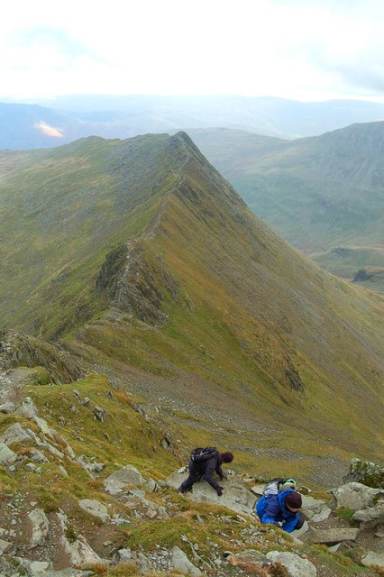 The final climb from Striding Edge