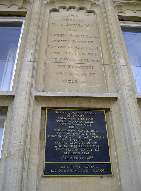 Photo of Walter Goodall George blue plaque