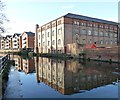 SK5639 : Warehouse beside the Nottingham Canal by David Lally