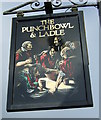 SW8140 : Sign for the Punchbowl & Ladle, Penelewey by JThomas