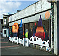 NS5964 : Graffiti style mural on London Road by Thomas Nugent