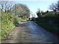 SW9945 : Minor road, Higher Kestle by JThomas
