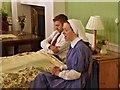 SJ7387 : Nurse and Soldier, Stamford Military Hospital, Bagdad Ward by David Dixon