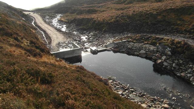 Upper dam on Neaty burn