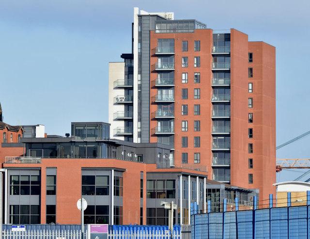 Pilot Street Apartments, Belfast... © Albert Bridge cc-by ...