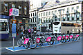 NS5865 : Nextbike Glasgow cycle hire point: Central railway station by Thomas Nugent