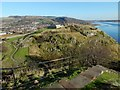 NS4074 : Dumbarton Castle: The Beak from White Tower Crag by Lairich Rig