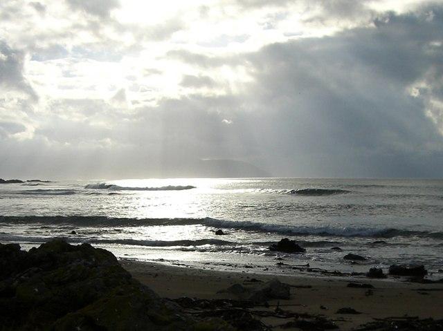 Stormy day on Machrihanish Bay
