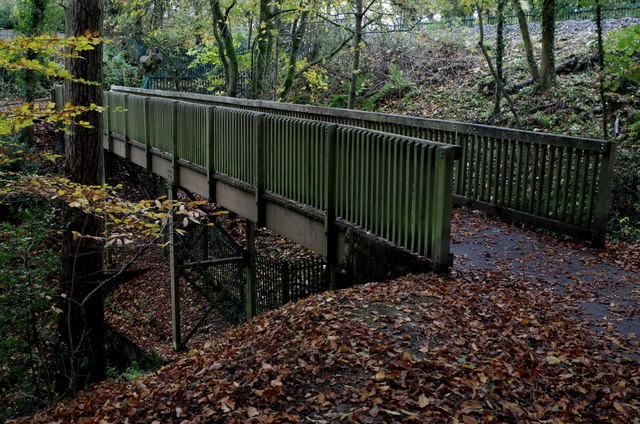 Footbridge in Rock Park, Llandrindod Wells