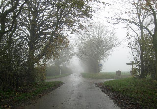 Foggy Crossroads at Burnham
