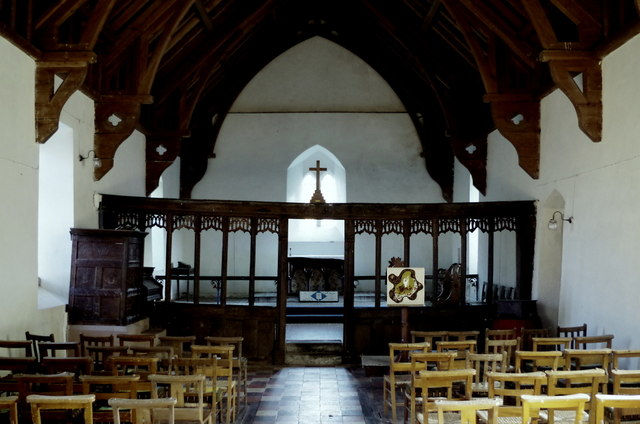 Church interior, Cefnllys