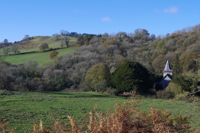 Ithon valley and Cefnllys church