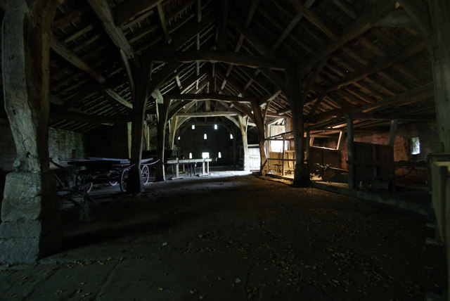 East Riddlesden Hall - The Great Barn interior